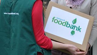 A foodbank parcel.