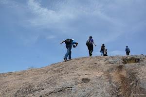 Climbing Rayakottai Fort hill top