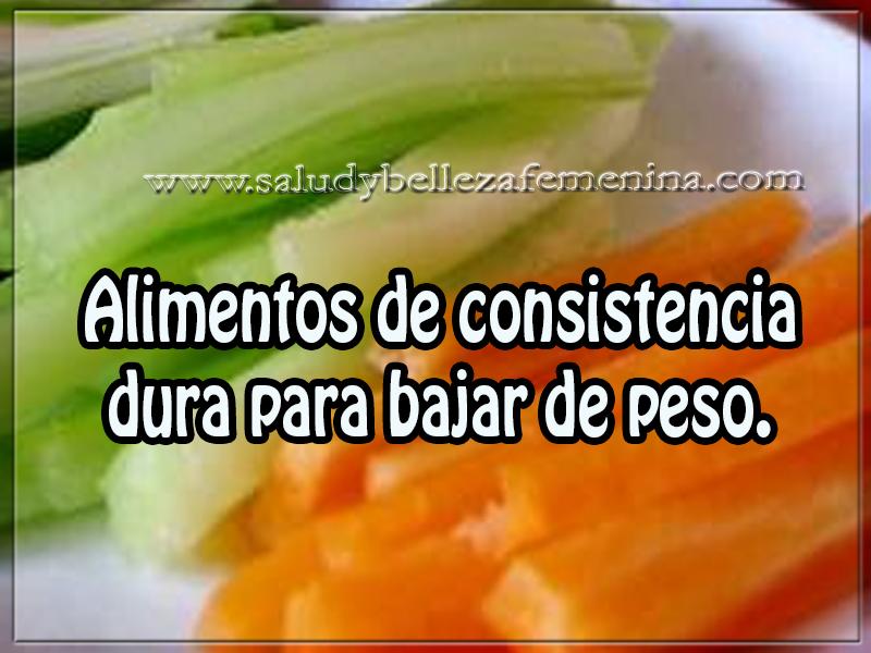alimentos de consistencia dura para bajar de peso., Bebidas para adelgazar, Salud y bienestar,