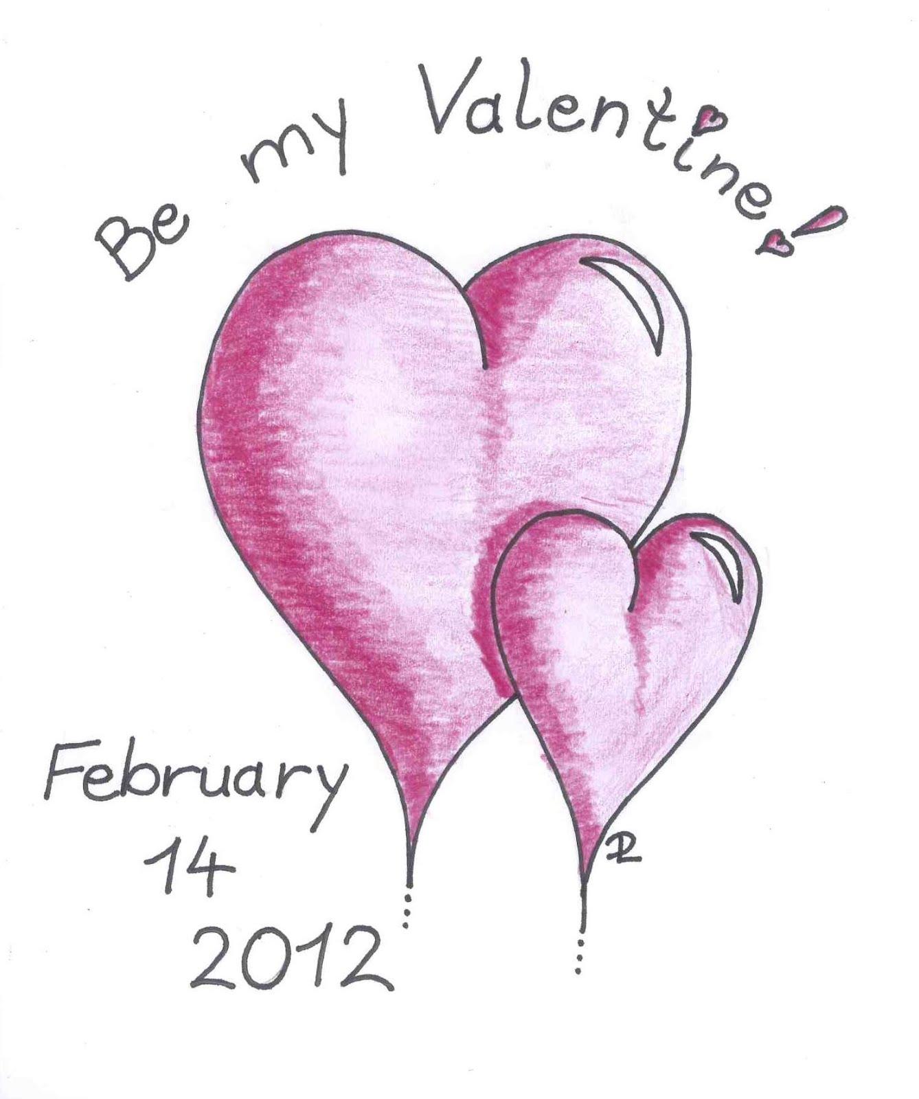 Ich Habe Für Alle Mein Blog Leser Ein Bißchen Gezeichnet. Ich Wünsche Euch  Allen Einen Schönen Valentinstag!
