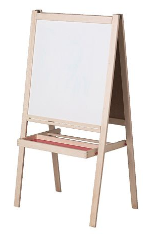 Annabelle at home ikea hack magnetic easel board for Magnetic board for kids ikea