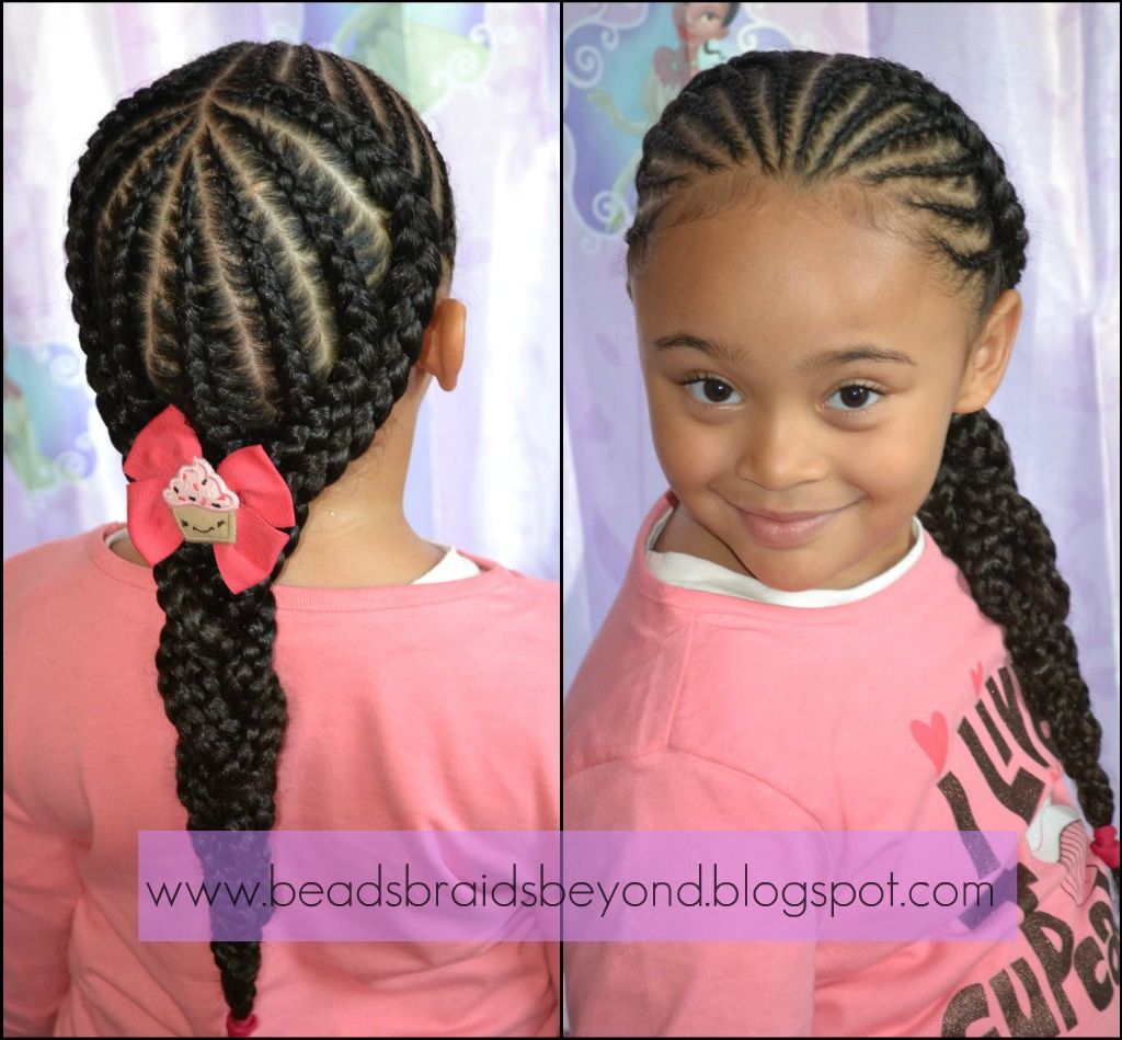 Hairstyles No Braids : Beads, Braids and Beyond: Were Back - In Style! Small Cornrows into ...