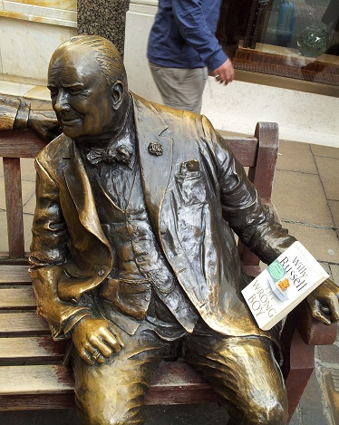 Willy Russell's, The Wrong Boy, was left by Books in the Wild with the statue of Winston Churchill, Bond Street, London.