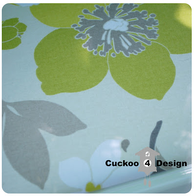 green, grey and white floral waverly fabric