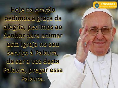10 frases do Papa Francisco postadas em nossa página