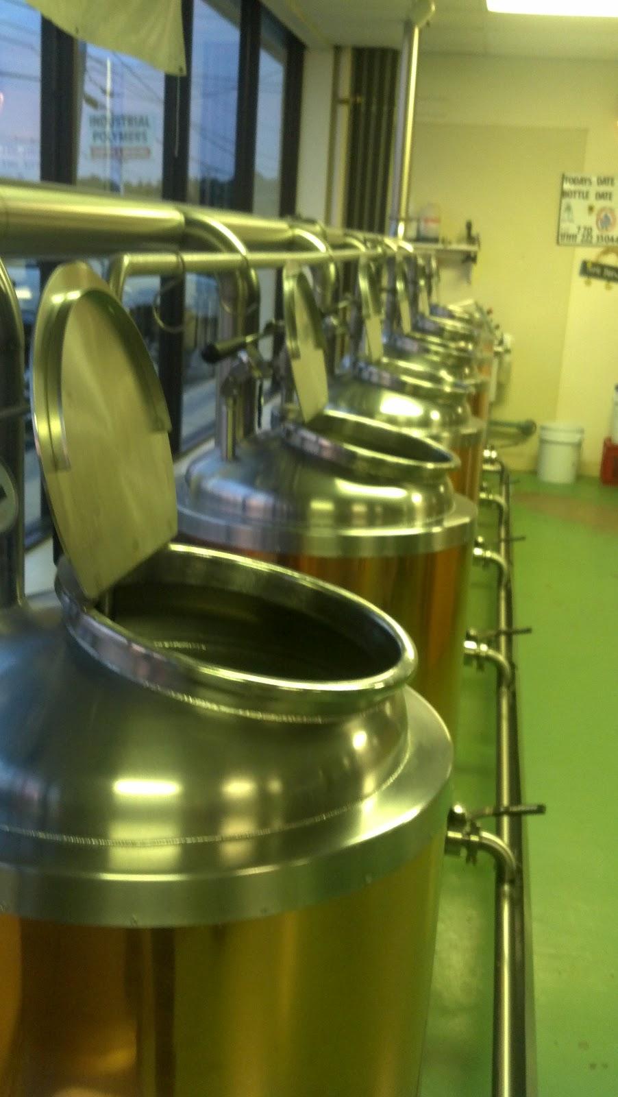 6 kettles at Deja Brew