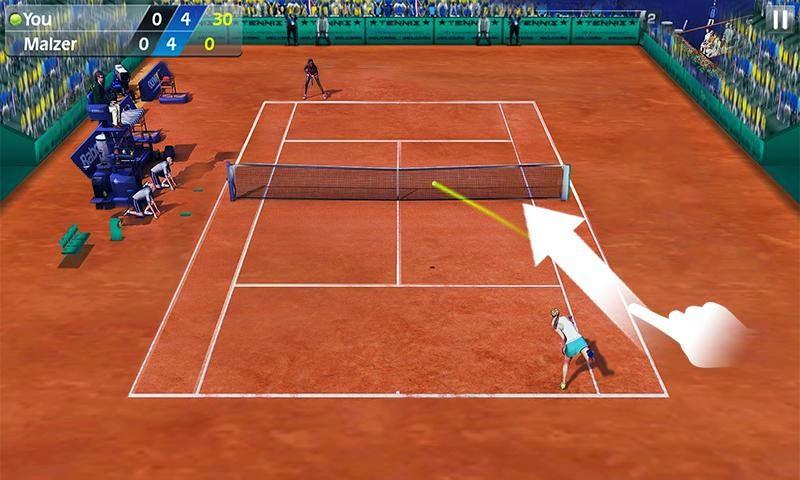 Fiske Tenisi - Tennis 3D Android Apk resimi 2