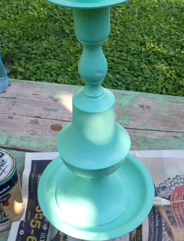 Lampara de bronce reciclada