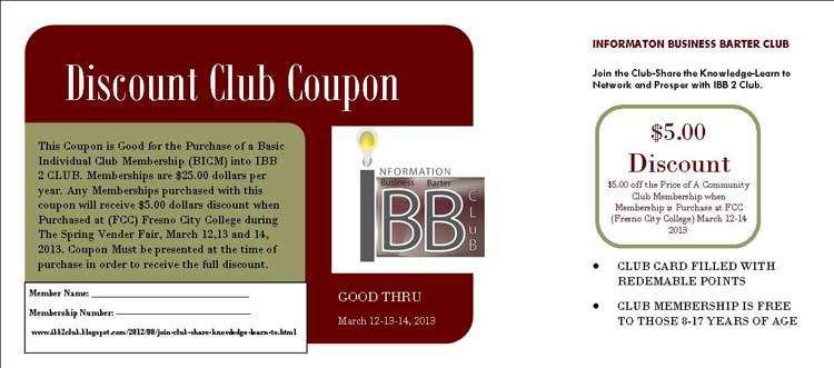 Discount Club Coupon