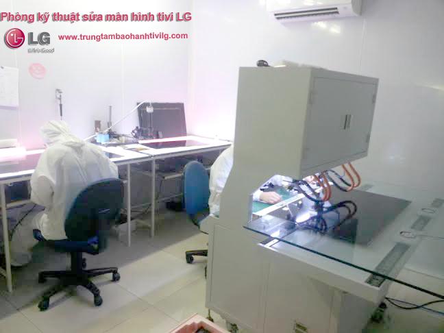 Phòng kỹ thuật xử lý sửa màn hình tivi LG