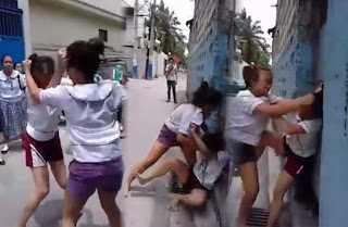 Two Students from Pasay Central West High school (PCWHS) engaged in a violent catfight went viral