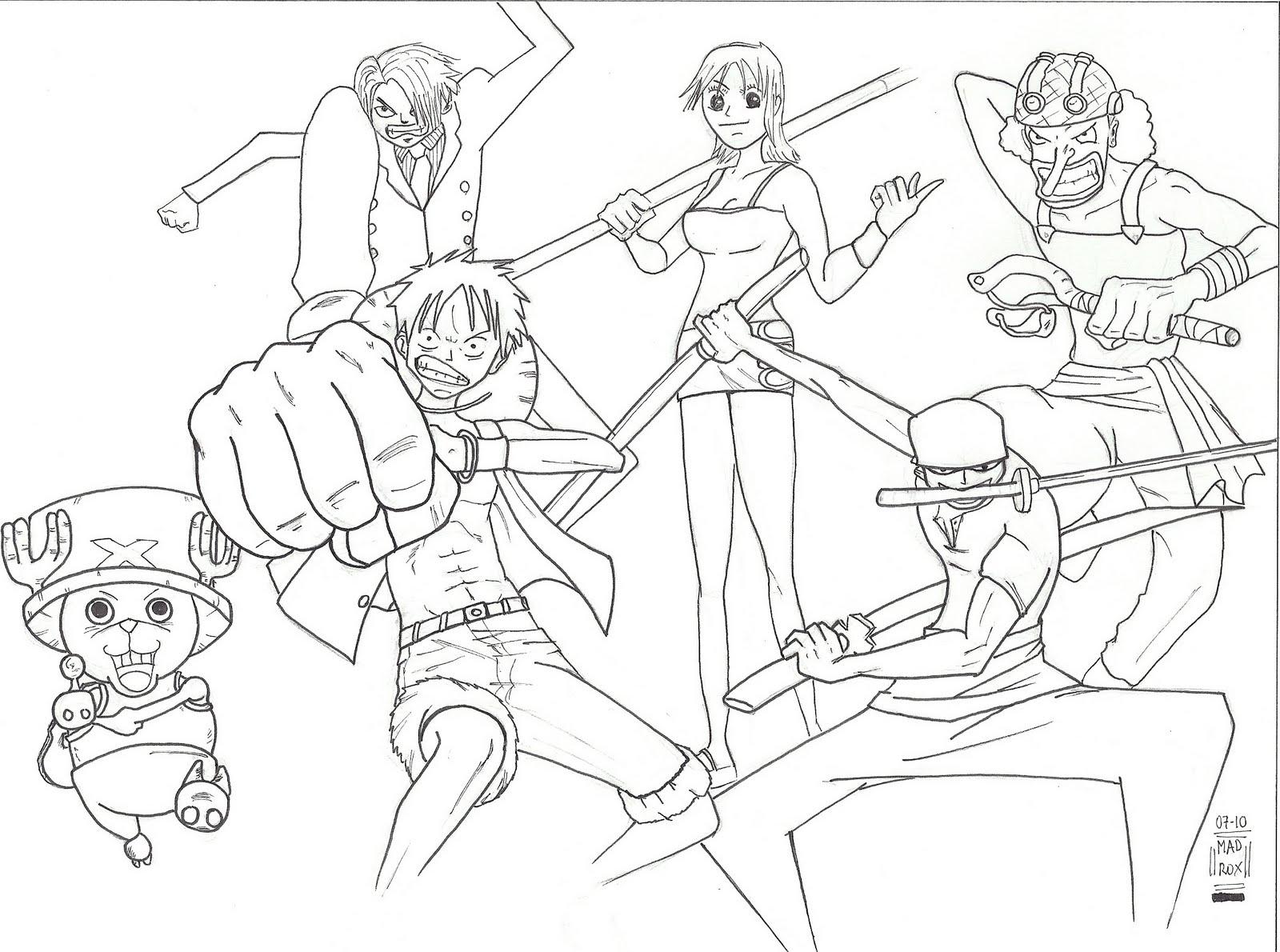 Dibujos y anime descargar y pintar for Dibujos one piece
