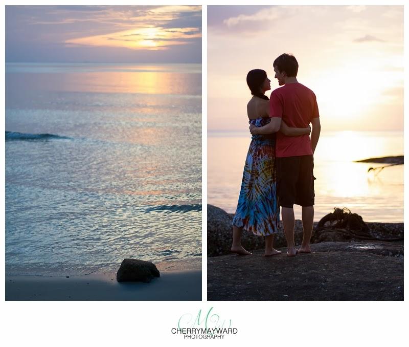 Chaweng beach, Koh Samui, Sunrise, honeymoon photography