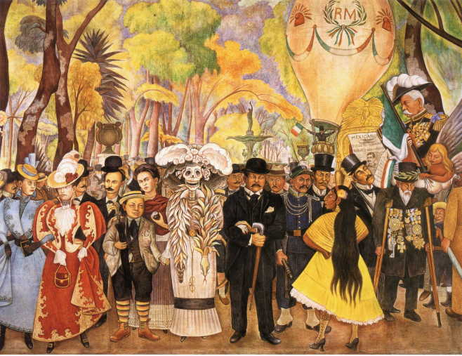 Art artists diego rivera part 1 for Diego rivera day of the dead mural