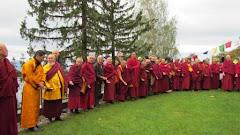 Lamas, monges e gueshes em Vervey Suiça