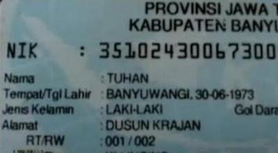 Di Banyuwangi Ada Tuhan, Di Palembang Ada Syaiton