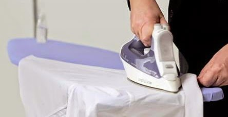 How to Iron a shirt in less than 90 seconds via geniushowto.blogspot.com step-2 yolk and collar