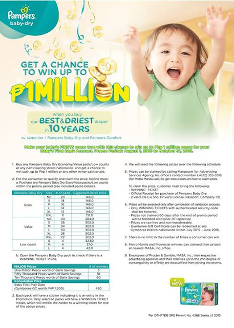 NEW Pampers Baby Dry Promotion, Pampers baby dry contest promo, Philippine promo