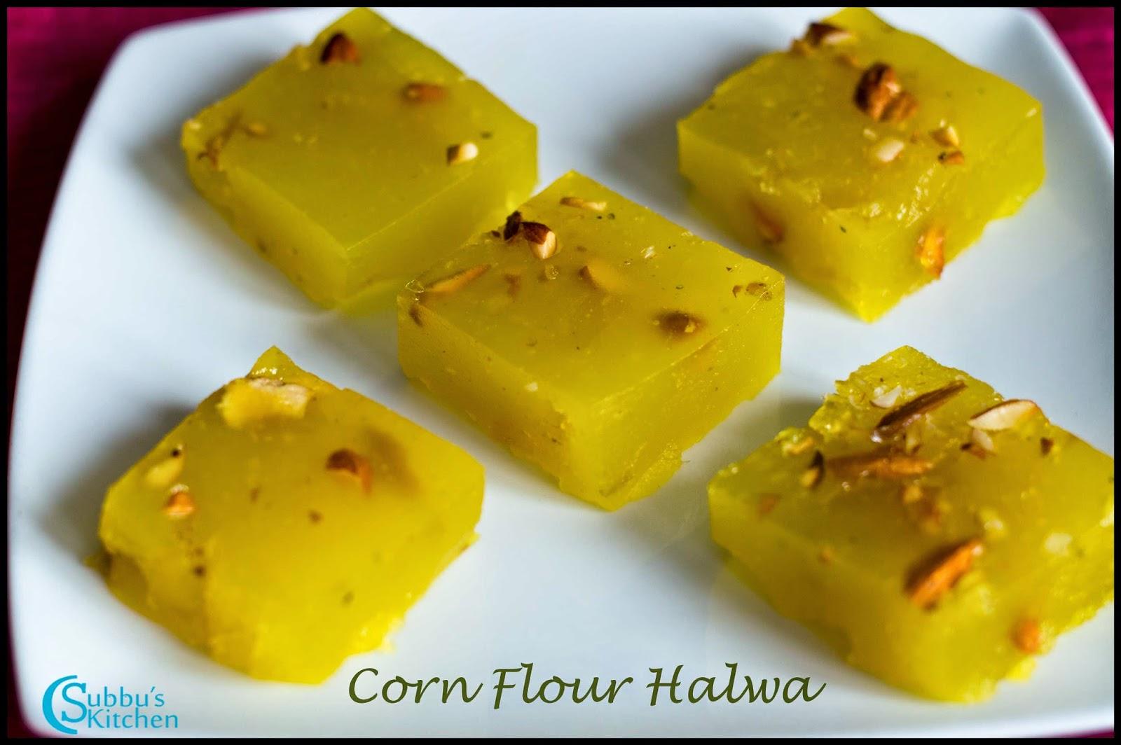 Corn Flour Halwa Recipe | Karachi Halwa Recipe