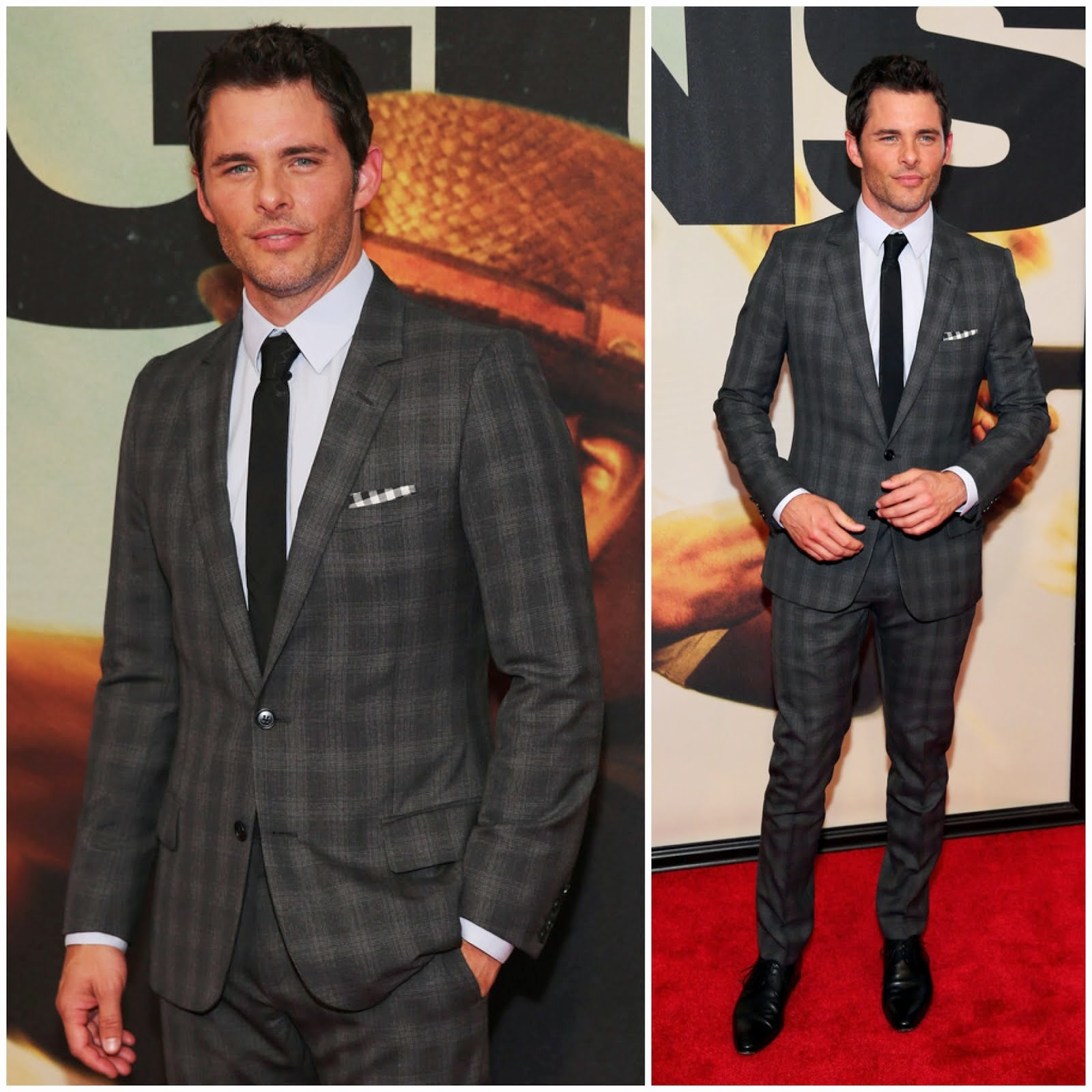 00O00 Menswear Blog: James Marsden attends the '2 Guns' New York Premiere at SVA Theater on July 29, 2013 in New York City.