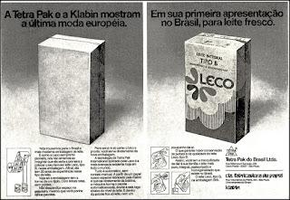 Tetra Pak - Klabin - Leite Leco, 1974. década de 70. os anos 70; propaganda na década de 70; Brazil in the 70s, história anos 70; Oswaldo Hernandez;