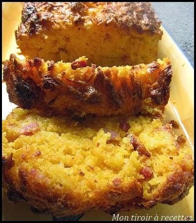 cake au potimarron et lardons