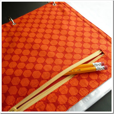 DIY fabric pencil pouch for 3-ring binder back to school tutorial by Abernathy Crafts
