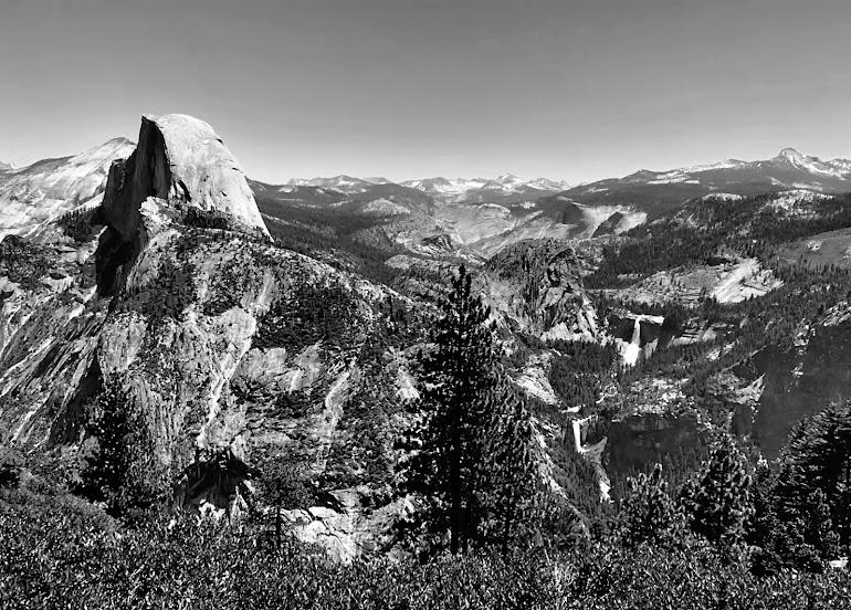 Half Dome-Nevada-Vernal Falls - Yosemite