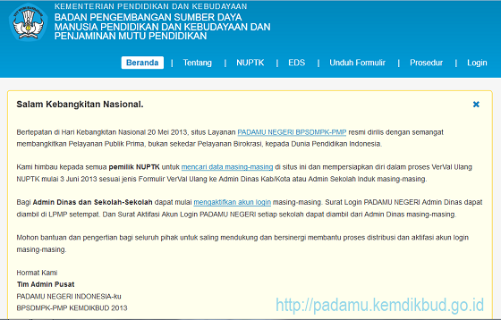 Situs PADAMU NEGERI BPSDMPK-PMP Resmi Dirilis | PADAMU.KEMDIKBUD.GO.ID