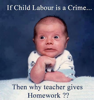 If child labour is a crime then why give homework