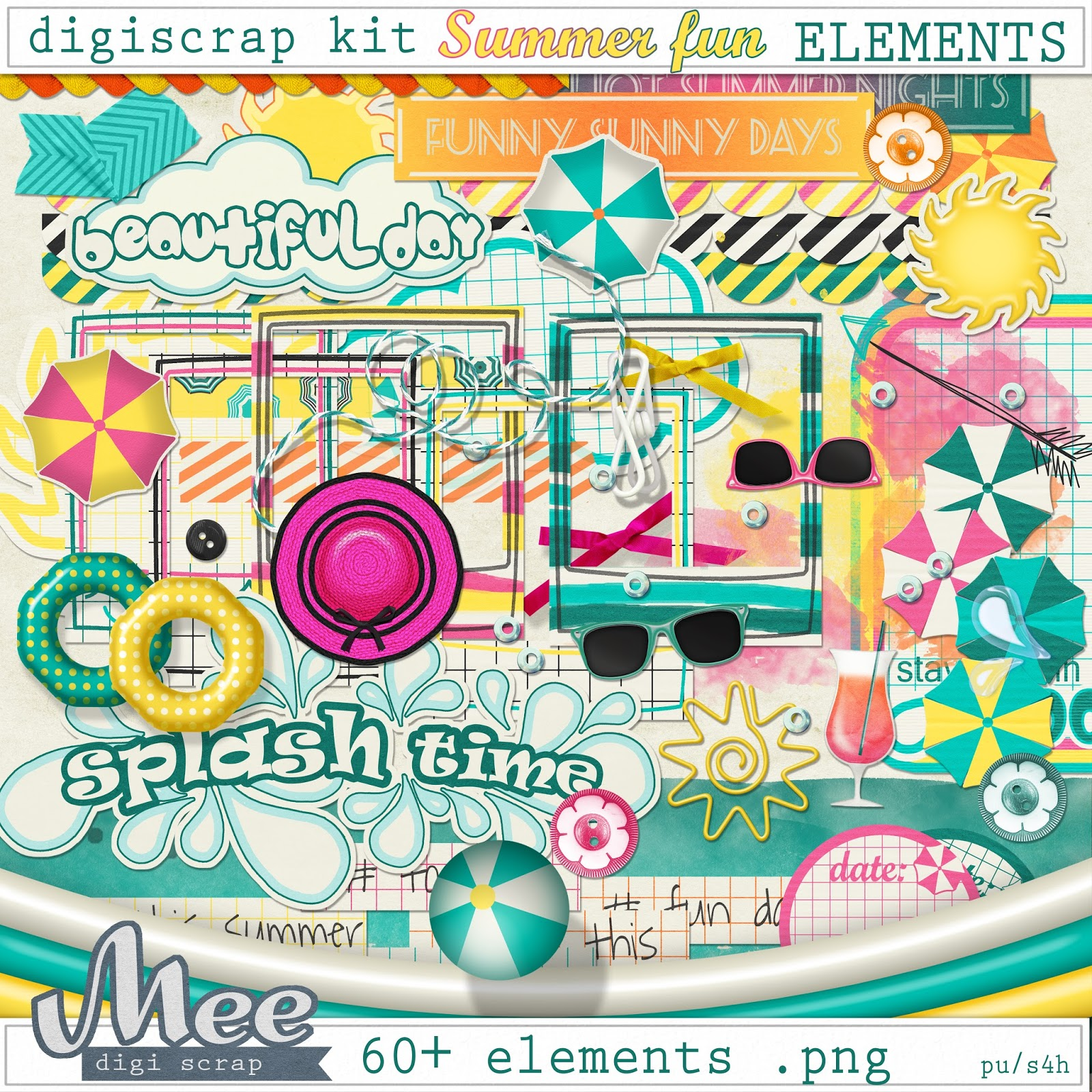 Mee Scrapbook Kits Free Download Digital Scrapbook Kit Summer Fun
