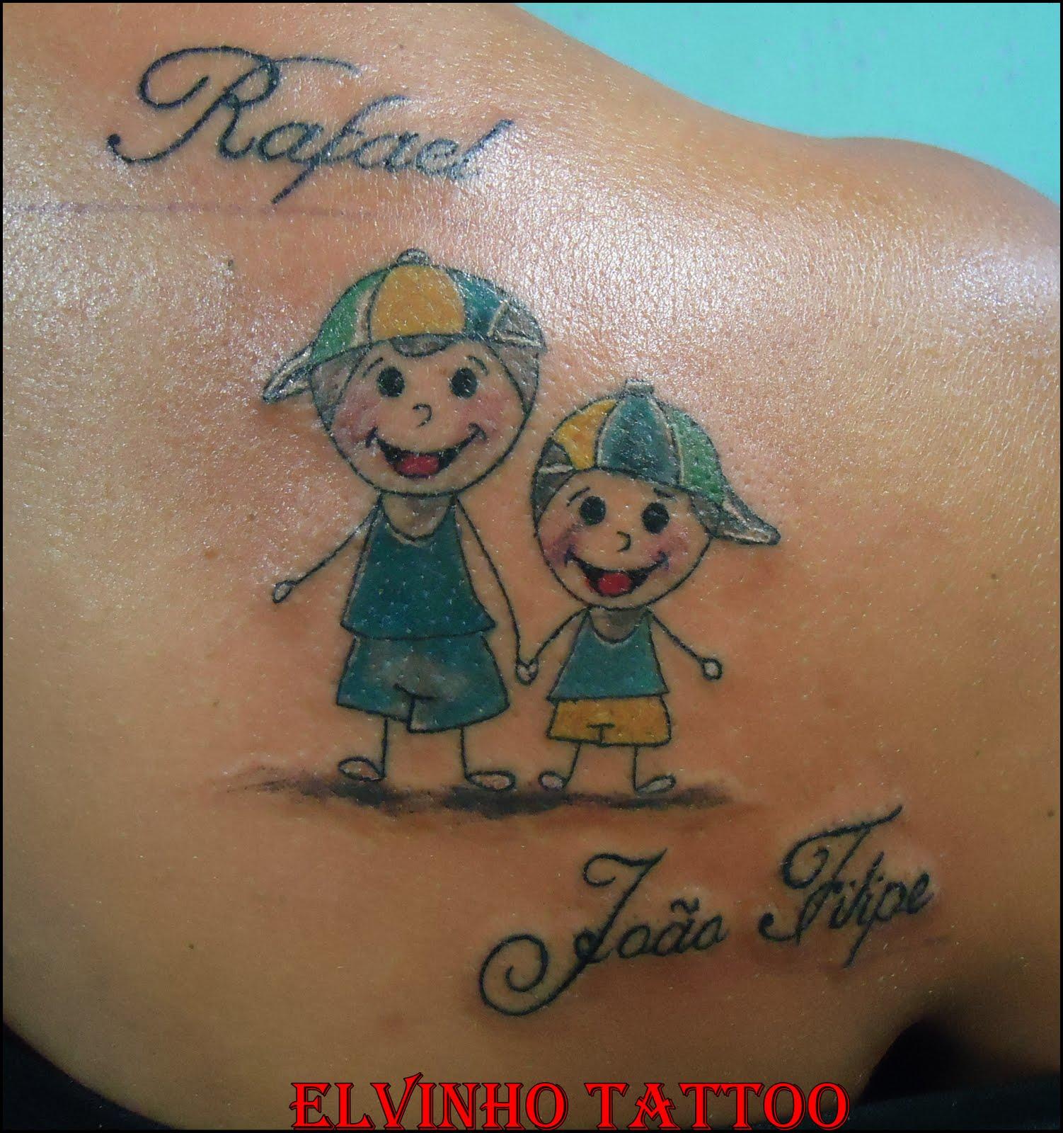Tattoo de Bonecos Palitos