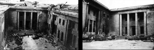 """Führerbunker (em português, """"abrigo do líder"""") é o nome do complexo subterrâneo de salas em Berlim onde Adolf Hitler passou as últimas semanas do regime nazista e cometera suicídio.  O bunker localizava-se a nordeste da Chancelaria do Reich, a cinco metros de profundidade e protegido por mais quatro metros de concreto armado. Cerca de trinta salas espalhavam-se por dois pisos e havia saídas na construção principal e uma saída de emergência para os jardins. Fora equipado com sistema de ventilação protegido contra gases venenosos, geradores a diesel e portas de aço.  Todos os visitantes deveriam depor suas armas antes adentrar no abrigo e somente o telefonista Rochus Misch e próprio Hitler dispunham de armas.  No pós-guerra a Chancelaria foi demolida pelos soviéticos e hoje o bunker encontra-se recoberto por um restaurante e um supermercado, enquanto que a saída para os jardins jaz sob um estacionamento."""
