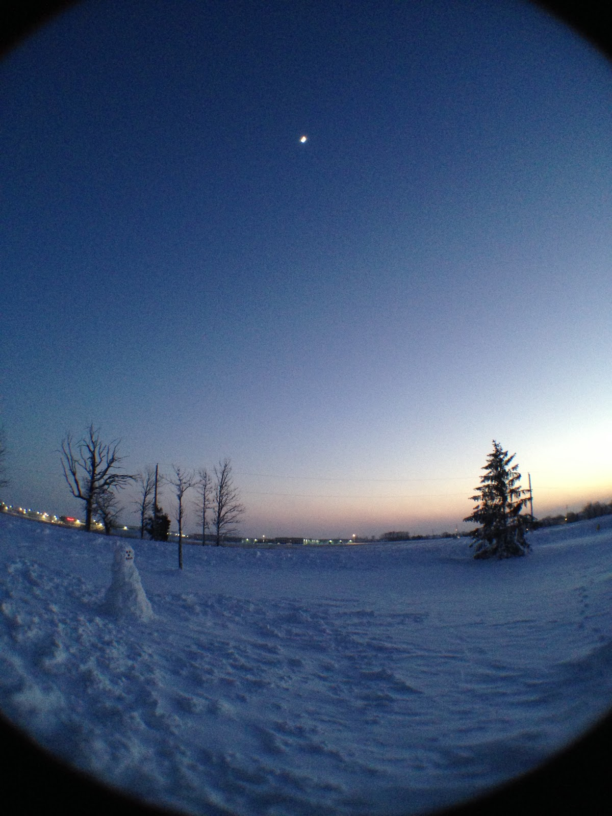moon snow iphone fish eye