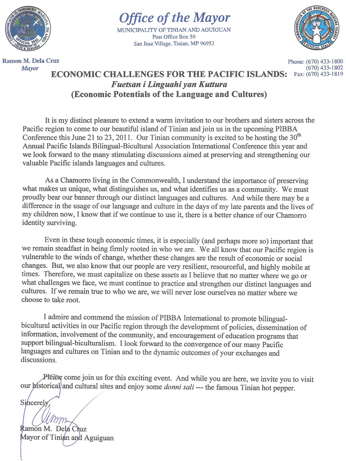 pibba international  pibba conference to be hosted in tinian