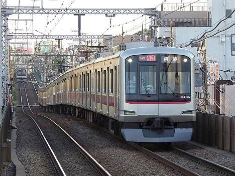 東急東横線 通勤特急 飯能行き 東急5050系