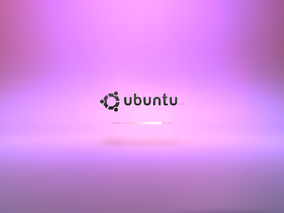 Purple Ubuntu 9.10 Boot Wallpapers