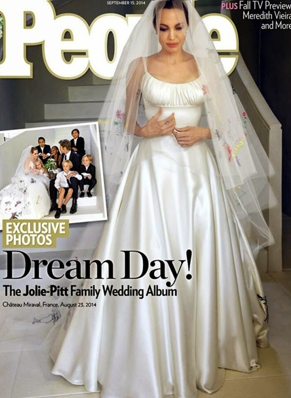 tumanas style blog: el verdadero vestido de novia de angelina jolie