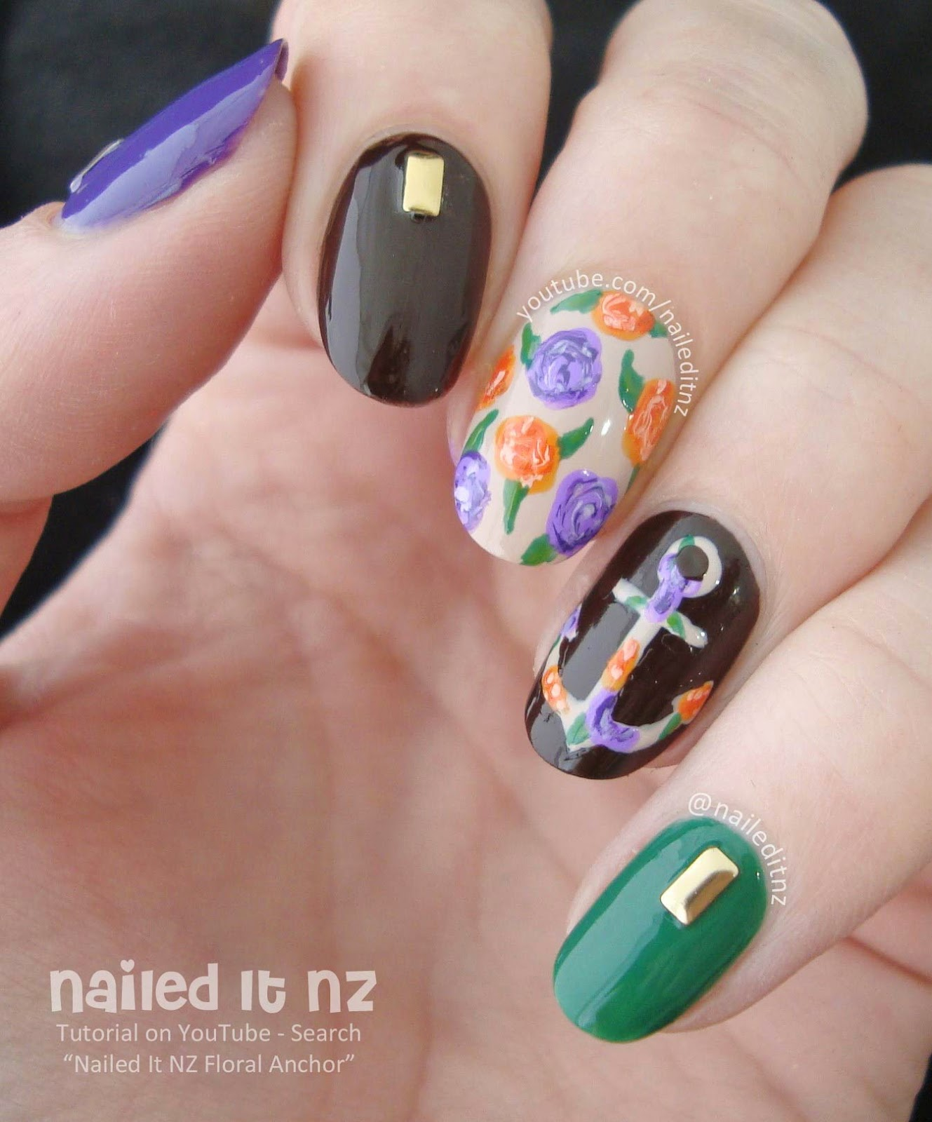 Floral anchor nail art tutorial let me know what you think of these nails and ill talk to you again in a couple of days ive got some nail art based on a chocolate milk obsession prinsesfo Gallery