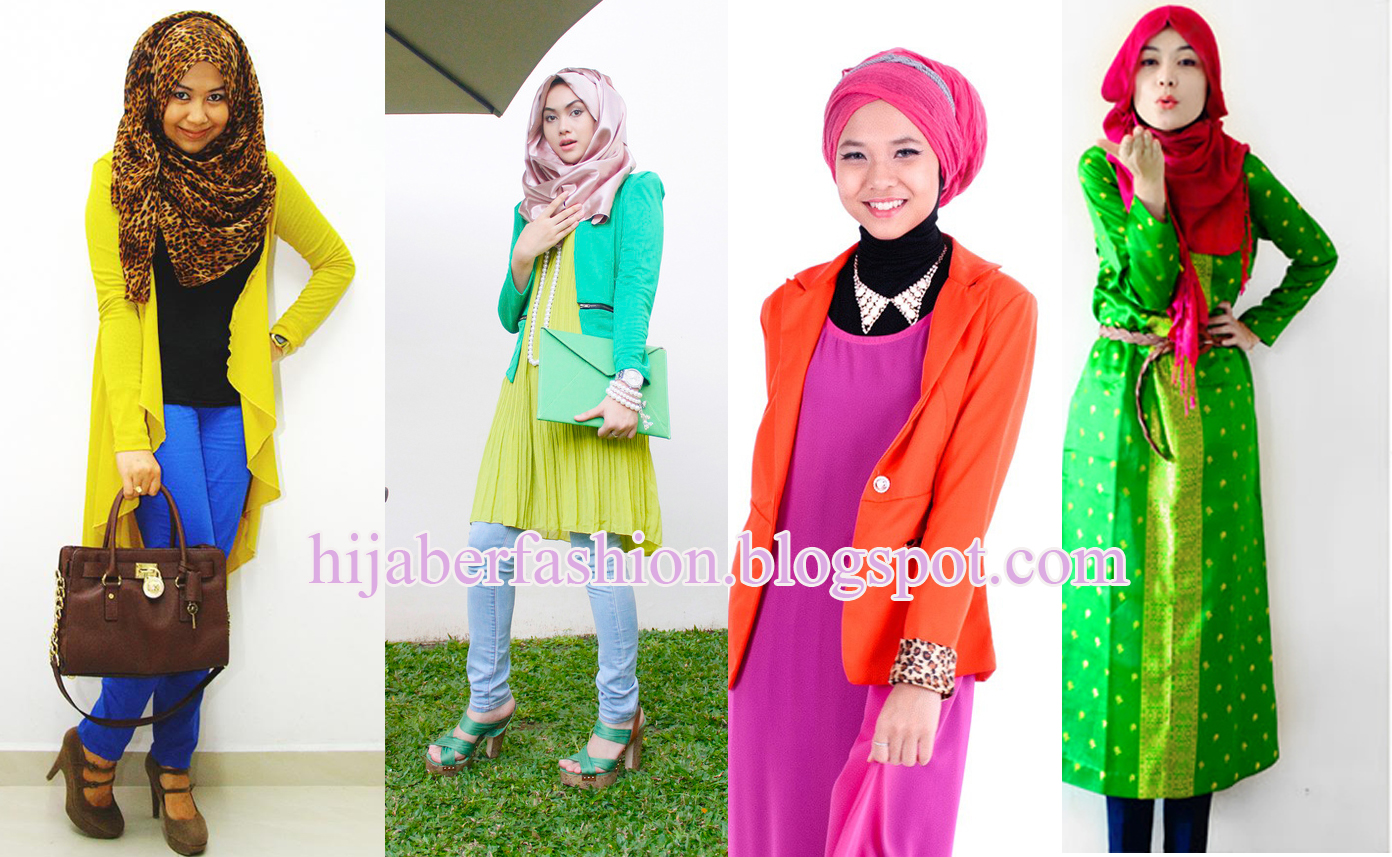 Fashion Hijab Trendy Dengan Warna Neon Tutorial Hijab