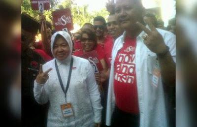 KPU Tetapkan Tri Rismaharini Dan Wisnu Sakti Buana Sebagai Pemimpin Kota Surabaya