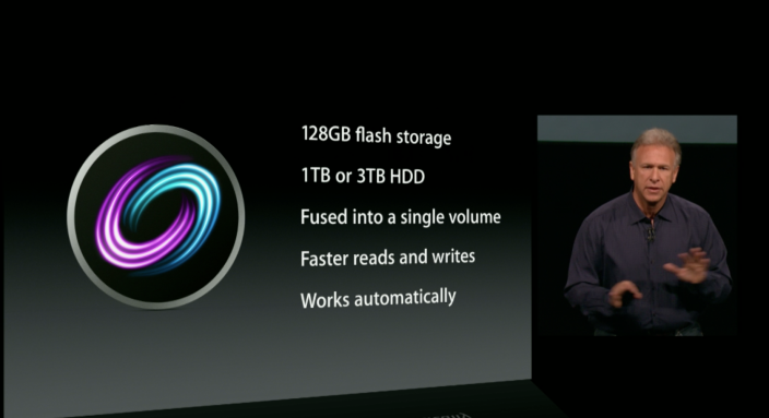 Apple 在今天推出整合傳統硬碟與固態硬碟的 Fusion Drive 技術。