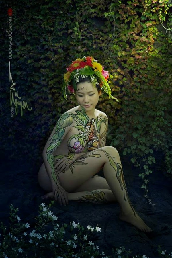 Ảnh gái xinh Body painting của Dương quốc định 16