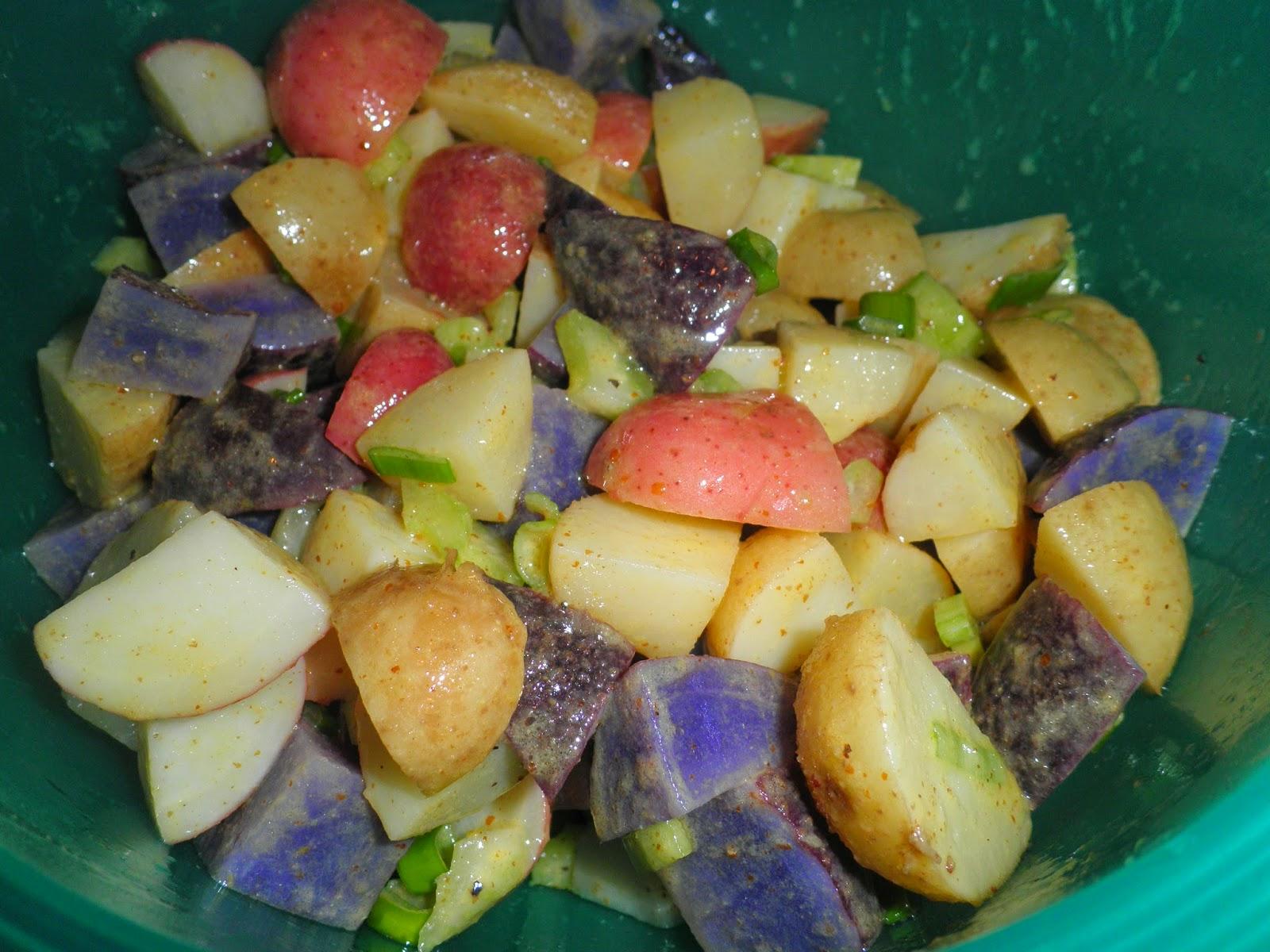 Secrets from the Cookie Princess: Patriotic Potato Salad