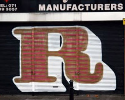 Letter R on Graffiti alphabet art