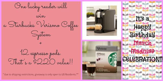 Starbucks Verismo Giveaway