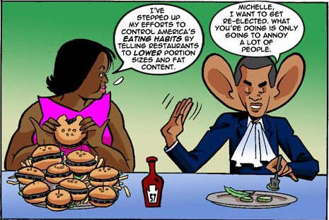 michelle obama eating