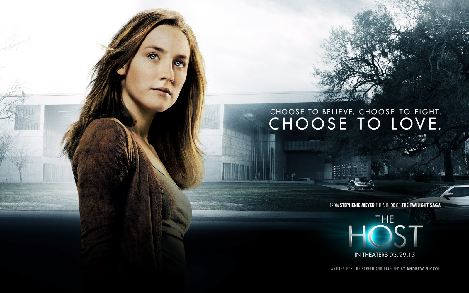 "Movie poster for The Host ""Choose to Love. Choose to Fight."""