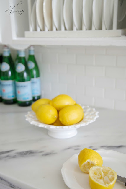Marble countertops with lemons