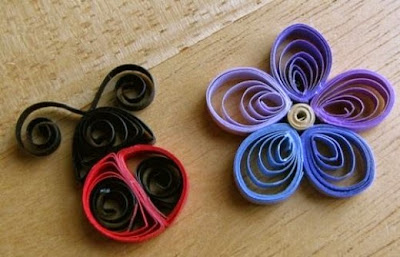 Easy paper quilling for kids